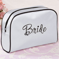 "Wedding White ""Bride"" Cosmetic Bag"