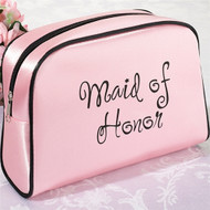 "Pink ""Maid of Honor"" Cosmetic Bag"