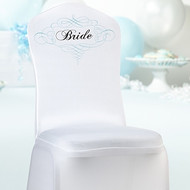 Bride White Chair Cover