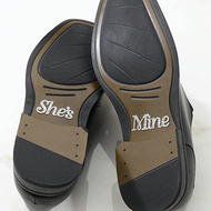 """She's Mine"" Shoe Stickers"