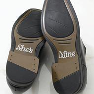 """She's Mine"" Shoe Stickers"