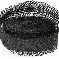 Black Burlap Ribbon (10 Yards)