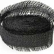 Black Burlap Ribbon (10 Yards)