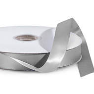 Silver Double Faced Satin Ribbon (100 Yards)
