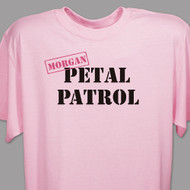 "Personalized ""Petal Patrol"" T-Shirt in Pink"