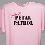 "Personalized ""Petal Patrol"" T-Shirt in Pink"