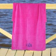 Embroidered Monogram Beach Towel