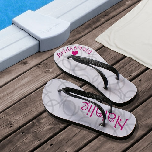 Personalized Wedding Party Flip Flop