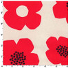 Kokka Canvas Prints - Cotton - Flowers - Red
