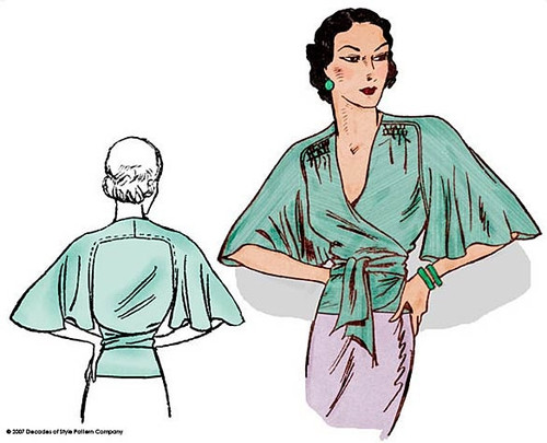1930s Butterfly Blouse - Decades of Style