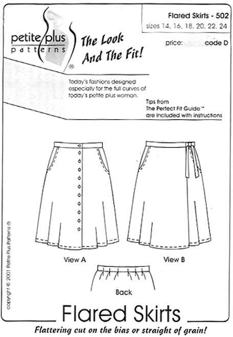 Flared Skirts - Petite Plus
