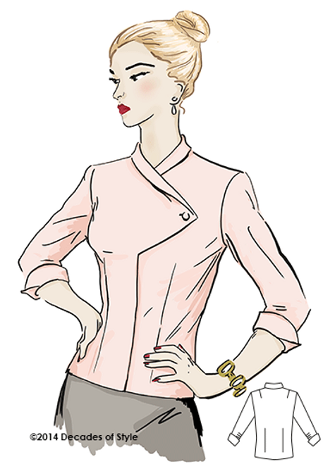 1950s Alicia Claire Blouse - Decades of Style