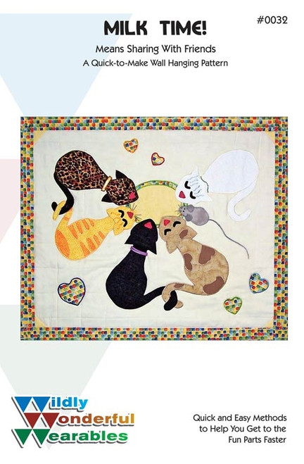 Milk Time Wall Quilt  Pattern