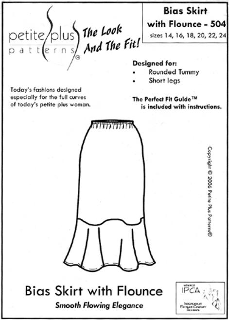 Bias Skirt with Flounce - Petite Plus