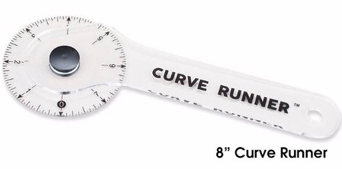"8"" Curve Runner - Rotary Ruler and Measuring Device"