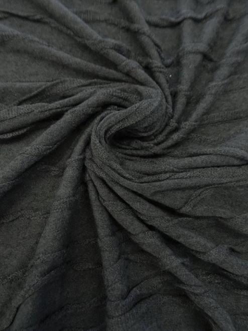 """Wavy Puckered Stripe Knit  - 60"""""""