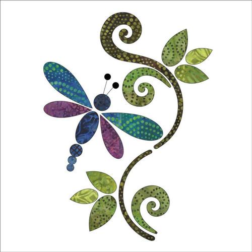 Applique Dragonfly Batik Panel