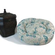 Mecox Linen Bolster Bed