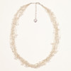 Silk Thread Necklace with Pearl Beads