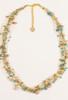 Silk Thread Necklace in Blue & Peach
