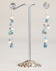 Silk Thread Earrings - Blue