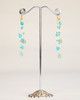Silk Thread Earrings - Turquoise