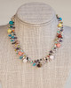 Silver Silk Thread Multi-Colored Necklace