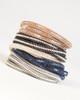 Leather & Crystal Wrap Bracelet - Black