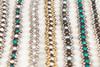 Pearl Daisy Chain Bracelet - Aqua & Silver