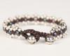 Pearl Daisy Chain Bracelet - Graphite & Silver