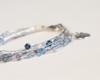 Bird's Nest Bracelet - Turquoise & Charcoal