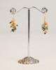 Bird's Nest Earrings - Gold Multi-Colored