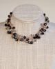 Black Orb Necklace on Gold Silk Thread