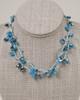 Long Tear Drop Necklace - Blue