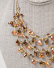 Multi-Strand Tear Drop Necklace - Gold