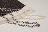 Pebble Stone Pearl Long Necklace - White & Gold