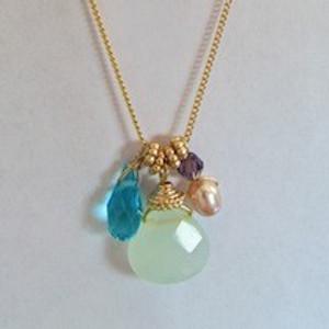 Aqua Gold Necklace