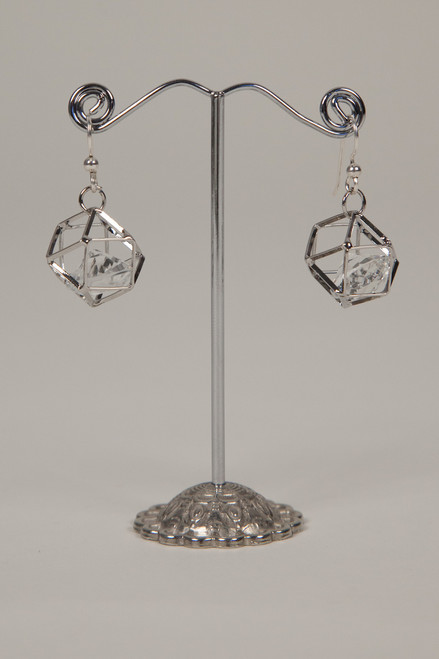 Galaxy Cage Earrings - Silver