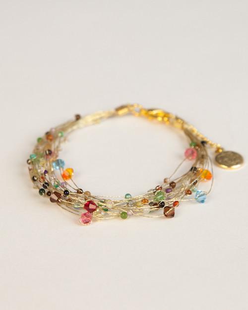 Bird's Nest Bracelet - Gold Multi-Colored