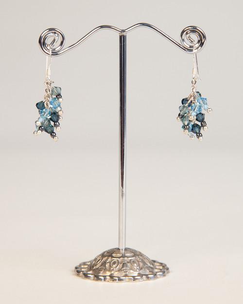 Bird's Nest Earrings - Turquoise & Charcoal