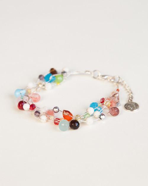 Silver Silk Thread Ornament Bracelet