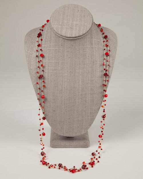 Long Red Disco Necklace