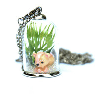 Make Your Own Woodland Pendant - Squirrel (Pink)