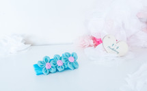 Blue Petite Floral Headband
