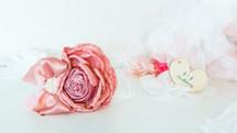 Girls Gatsby Headband - Dusty Pink