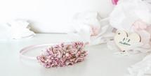 Pale pink floral print