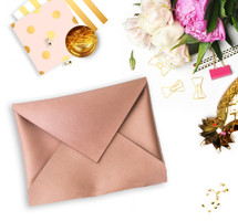 Make Your Own Glam Envelope Clutch - Rose Gold