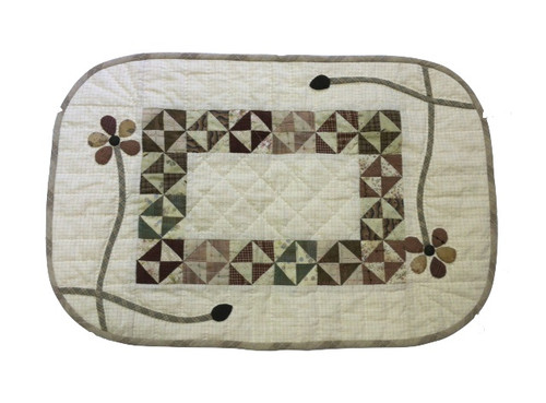 """Pansy Table Runner (15"""" X 25"""")"""