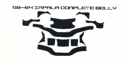 58-64 Impala Belly Reinforce Kit