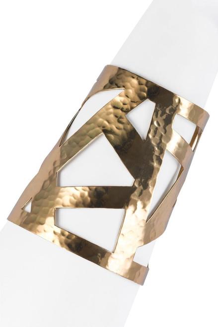 Josie Natori Geometric Gold Cuff at The Natori Company